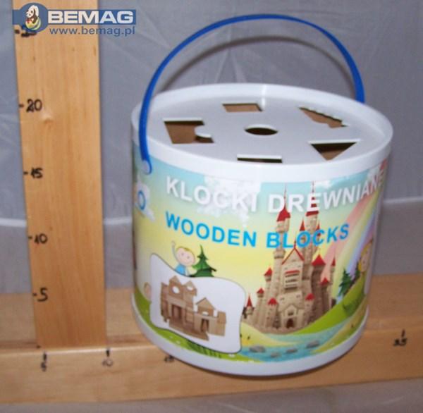 -Naturalne klocki drewniane STANDARD 50  DAB