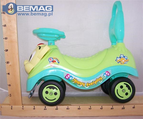 Jeździk samochodzik dla dzieci z kotem, 3 kolory