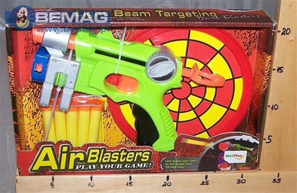 Pistolet machine gun+10strzałek MAL