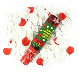 -Konfetti pneumatyczne-Płatki róż czerwone i białe serca 30cm KSDK-YK012 GoD