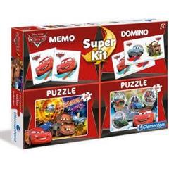 CLE puzzle 2X20 + memo + domino Cars 08201