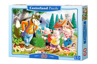 Puzzle 60el. B-06519 Three Little Pigs CASTOR
