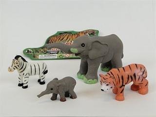 Zestaw zwierząt dzikich op.4szt PVC AD