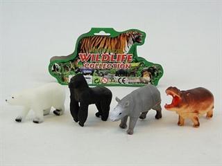 Zestaw zwierząt dzikich op. 4szt. PVC AD
