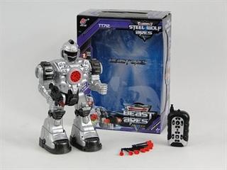 Robot na baterie, światło, dźwięk W/B 6/18 AD