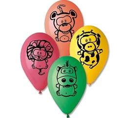 -Balony Premium  quot;Zwierzątka z dżungli quot; 12 quot; GoD