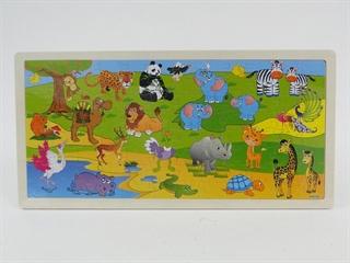Układanka puzzle 45x22x0.5 cm zwierzaki