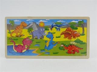 Układanka puzzle 45x22x0.5 dino