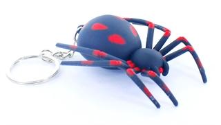 Brelok pająk czarny ze św.i dżw. NO-1000107