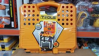 Stół warsztat-walizka z narzędziami i wiertarką MAL