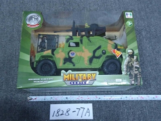 Jeep wojskowy z dźwiękiem w pudełku DRO