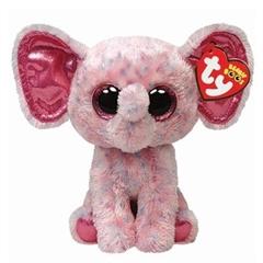 *Maskotka Beanie Boos ELLIE - pink speckled elephant medium