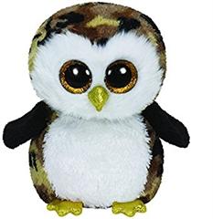 *Maskotka Beanie Boos OWLIVER - black brown owl medium