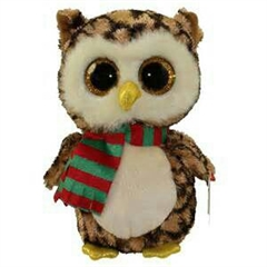 *Beanie Boos WISE - owl with scarf med