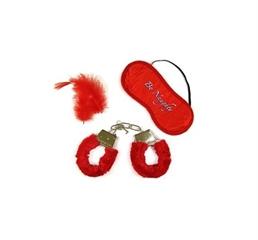Sexi-kajdanki + maseczka (czerwone) GoD