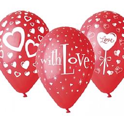 Balony premium Love 12 quot; 25szt GS110/PG36 GOD