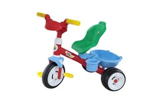 Rowerek 3-ch kołowy  quot;Baby Trike quot; z rączką, klaksonem i paskiem + Zestaw (2 element)