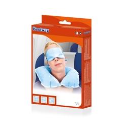 Zestaw wypoczynkowy zagłówek nadmuchiwany 37x24x10cm, opaska na oczy i zatyczki do uszu.