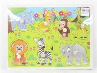 Puzzle drewno safari BPUZ1306 BT