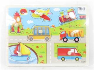 Puzzle drewno pojazdy BPUZ5168 BT