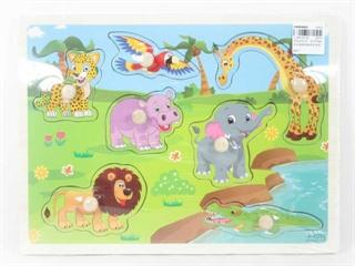 Puzzle drewno zoo BPUZ3256 BT
