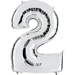 Numer 2 srebrny 092S