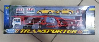 WELLY samochód-Laweta-4 autka skala DRO