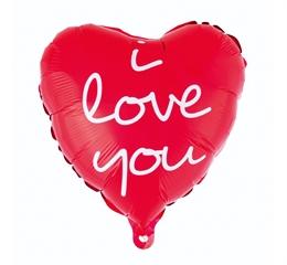Balon foliowy  quot;I Love You (nadruk) quot;, 36 cm