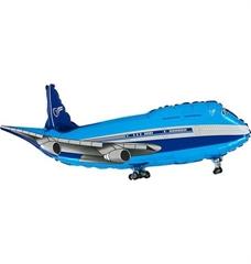 Balon Grabo 14 apos; apos; Samolot Niebieski Mini