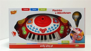 *PIANINKO Z MIKROFONEM SMILY PLAY 1/6