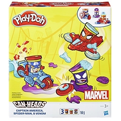 PROM Play-Doh Can Heads B0606 Captain America