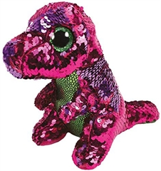 *Beanie Boos Flippables STOMPY - pink-green dinosaur