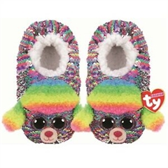 *Ty Fashion Sequins cekinowe pantofle RAINBOW - pudel, rozmiar: S (28-31)