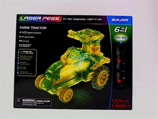 PROM FARM TRACTOR /LASER PEGS/ 6IN1 61011