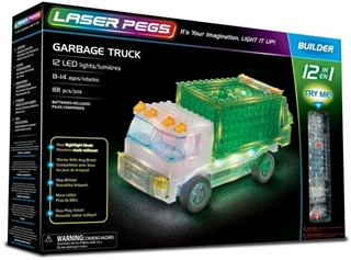 PROM GARBAGE TRUCK /LASER PEGS/ 12IN1 12013