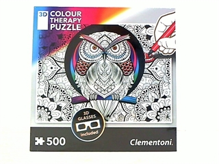 -CLE puzzle 500 3D Colour Therapy + okulary 35050