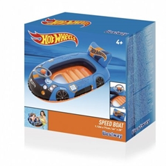 Pontonik nadmuchiwany   Hot Wheels   1.12m x 71cm, wiek 4+ (Contents: One boat.) 93405