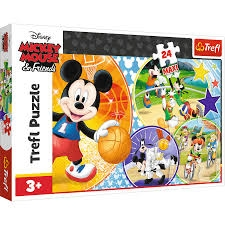 S.CENA Puzzle -   24 Maxi   - Czas na sport/Disney Standard Characters