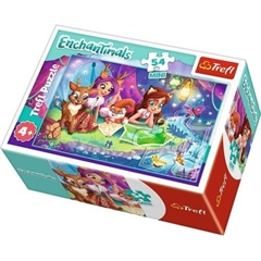 S.CENA Puzzle -   54 mini   - Wesoły dzieńEnchantimals / Mattel Enchantimals