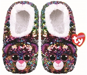 *Ty Fashion Sequins cekinowe pantofle DOTTY - lampart, rozmiar: L (36-38)