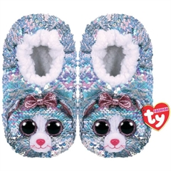 *Ty Fashion Sequins cekinowe pantofle WHIMSY - kot, rozmiar: L (36-38)
