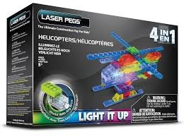 PROM LASER PEGS 4 IN 1 HELICOPTER MPS400B