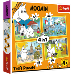 S.CENA Puzzles - _4in1_ - Moomin happy day/Moomins