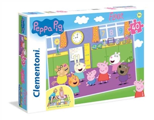 -CLE puzzle 40 Podogowe SuperKolor Peppa Pig 25458